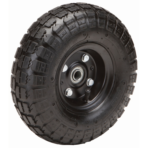 10 In Pneumatic Tire With Black Hub