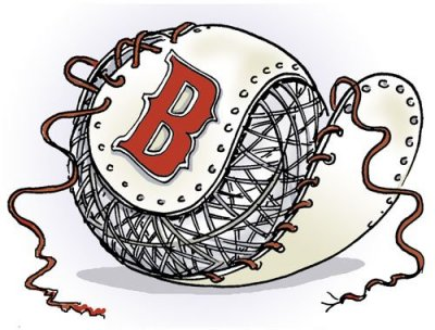 The Red Sox come unraveled.... from MacGregor's Red Sox cartoons