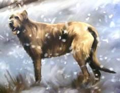 Artist's impression of the Hallaton dogs