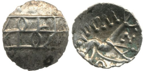 Only a few coins of this type were found at Hallaton. This type of coin is usually found more widely in the northern Corieltavi area, in northern Lincolnshire and southern Yorkshire.