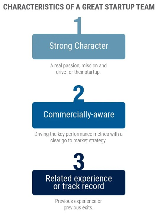Characteristics of a great start up team