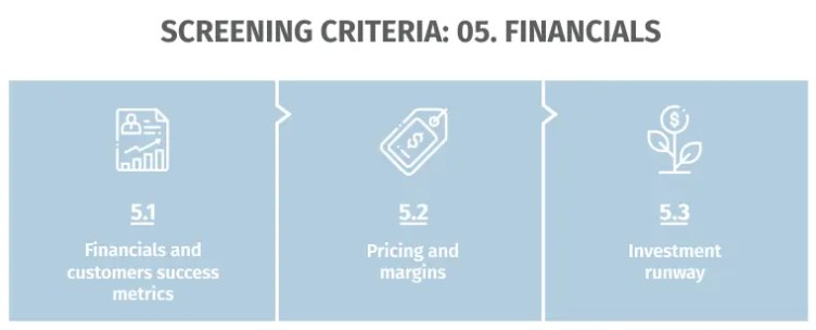 Screen criteria: Financials