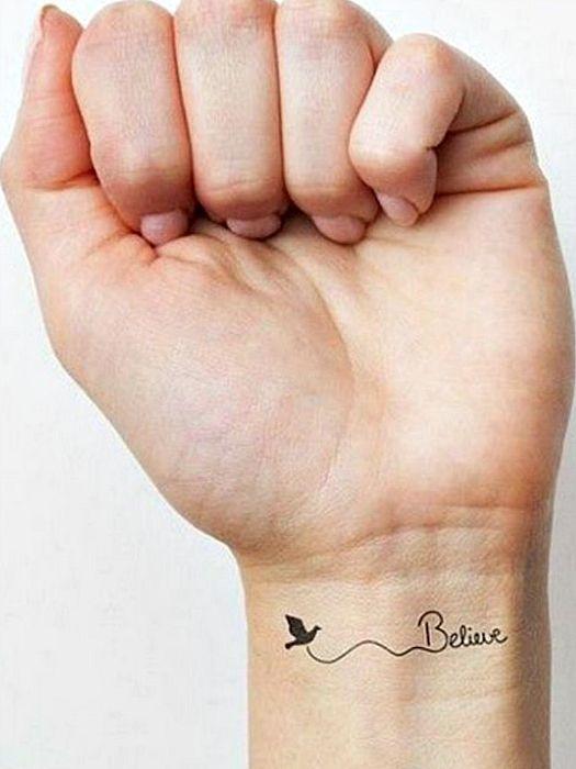 21 Pequeños Tatuajes llenos de Sentimientos y sus Significados, tatuaje believe