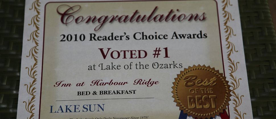 Readers Choice Award from Lake Sun Newspaper Best of the Best