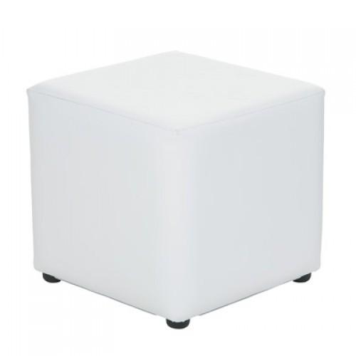 white square ottoman