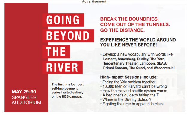 Ad going beyond river