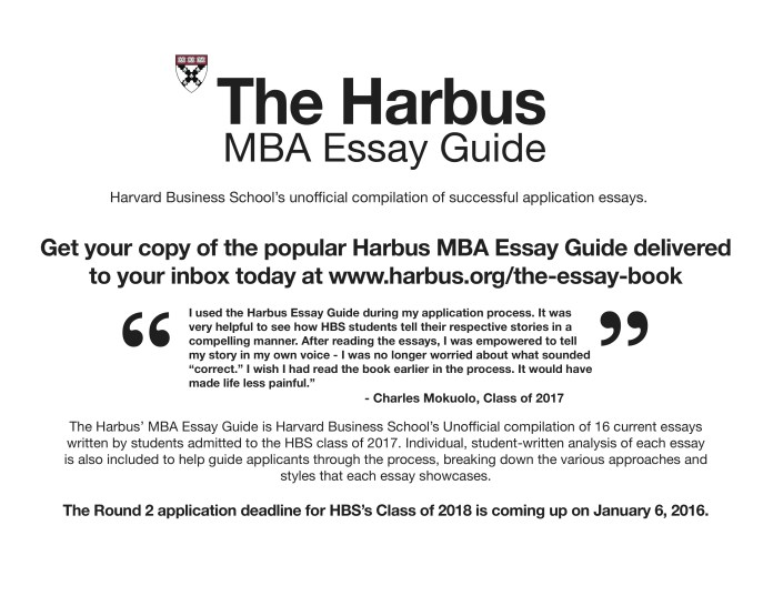 Tips For Your Hbs Essay From Hbs Students  The Harbus Harbus Essay Guide Ad Nov