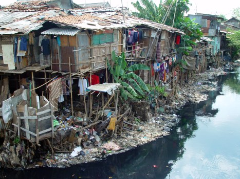A slum in Jakarta