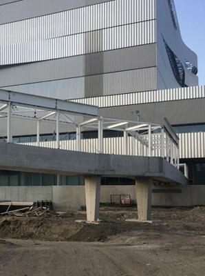 hard-concrete Dagály vasbeton gyalogos híd