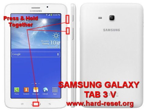How To Easily Hard Reset Samsung Galaxy Tab 3 V Sm T116nu Tab 3