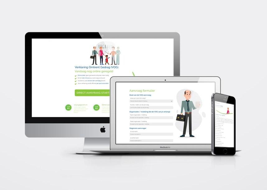 Webdesign (aangeleverd in layered psd). Bezoek de website van Vogbalie.nl