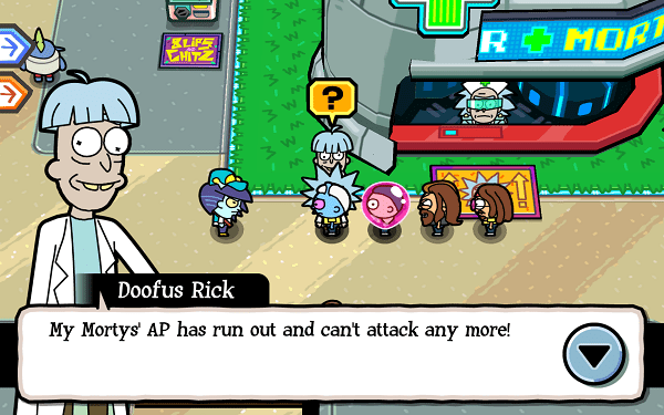 Pocket Mortys Doofus Rick