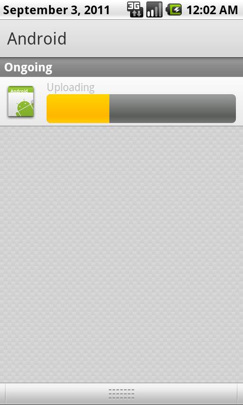 Android Notification, Uploading Progressbar – Ben's Place