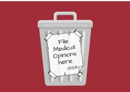 SSA and Medical Opinions – Not good news.