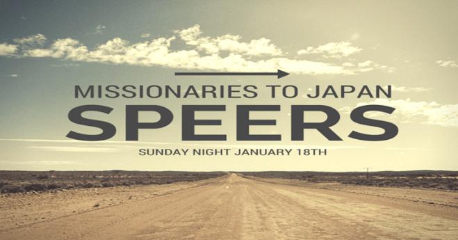 Speers Heading to Japan