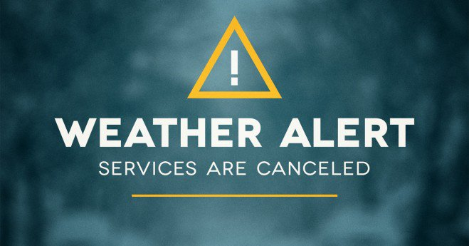 All Wednesday Services Cancelled – Snow Church 7 PM