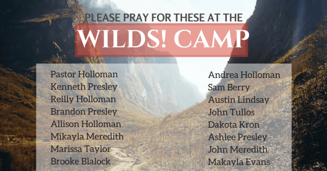 Summer of Ministry! Wilds Camp!