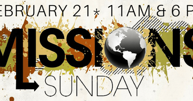 Mission's Sunday 2016