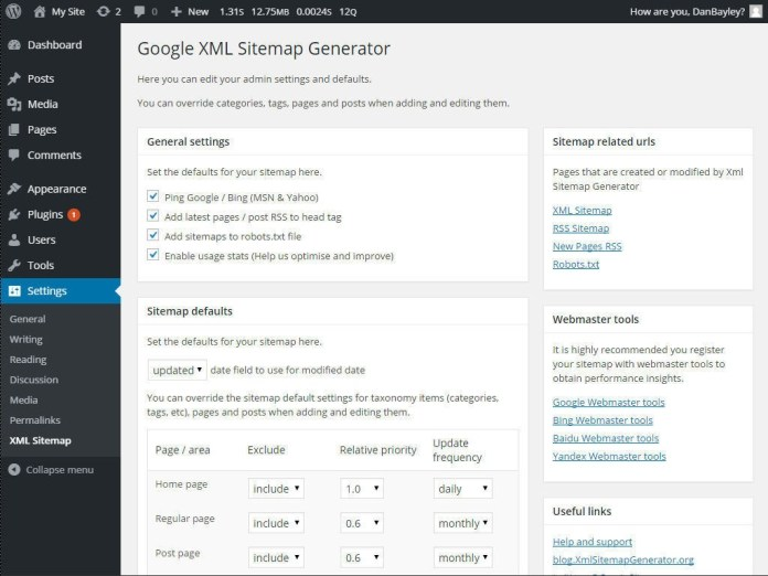 google sitemap generator plugins for wordpress website