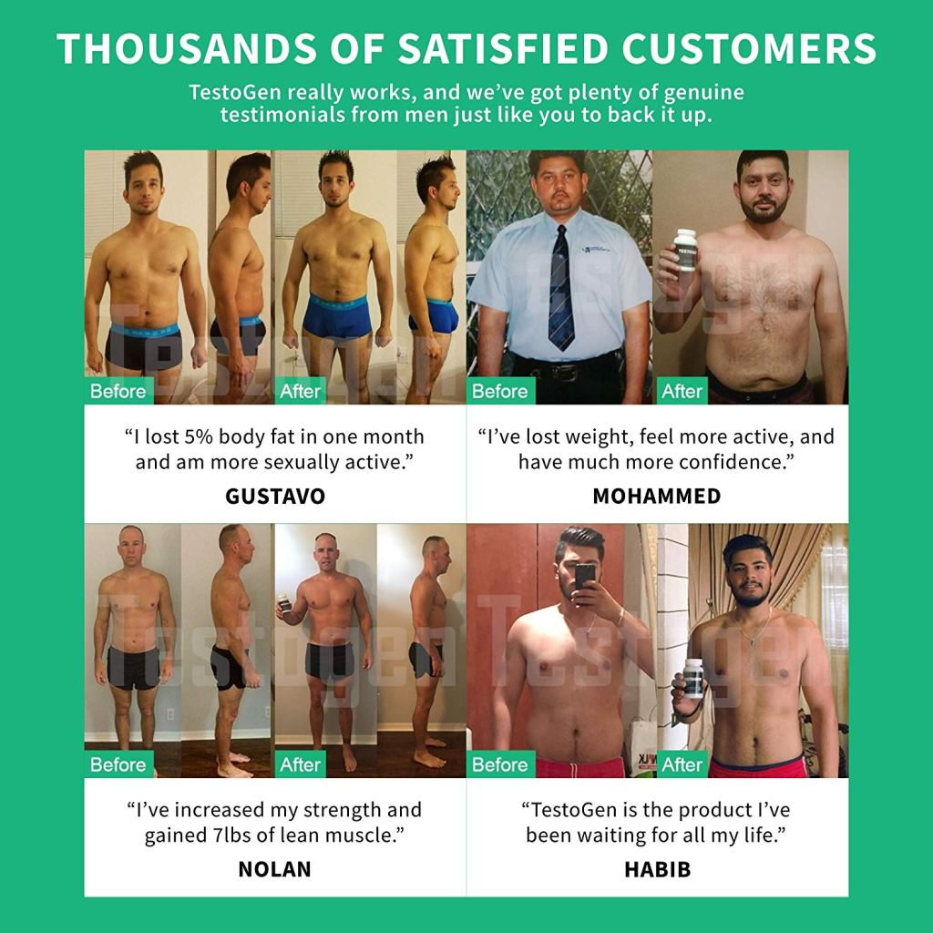 Testogen Before and After results
