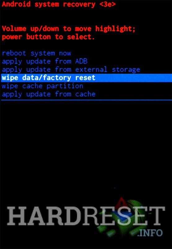 Wipe data LENOVO A7010
