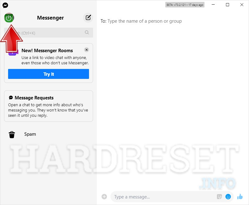 Open Messenger App