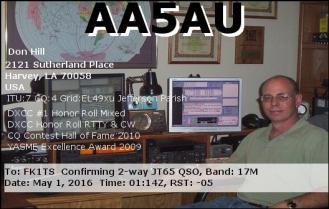 EQSL_AA5AU_20160501_013600_17M_JT65_1