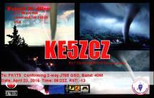 EQSL_KE5ZCZ_20160423_081900_40M_JT65_1