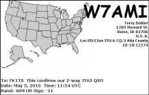 EQSL_W7AMI_20160505_115600_40M_JT65_1