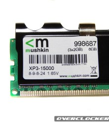 Mushkin XP3-15000 8-9-8-20 3x2GB Review