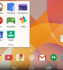 Google's flat-look icons in Android 4.5