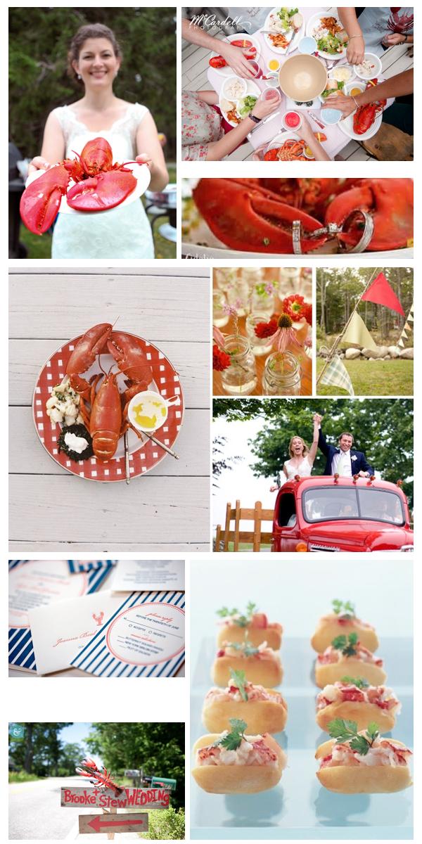 Maine Barn Wedding | Lobster bake