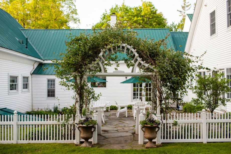 patio maine barn wedding