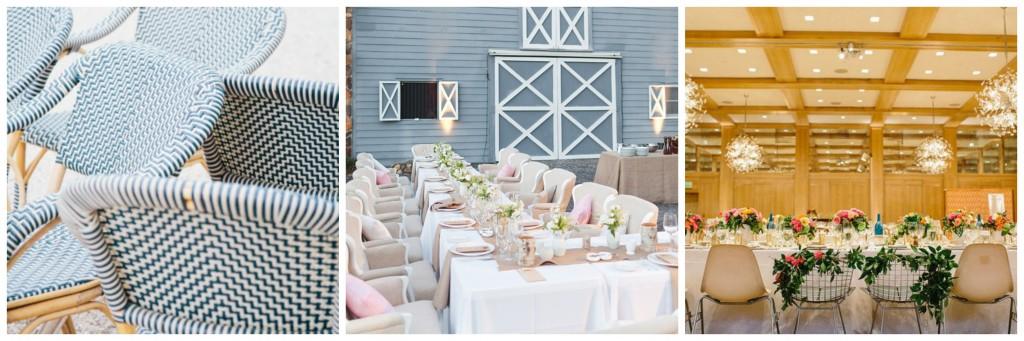 fun chairs for rustic wedding