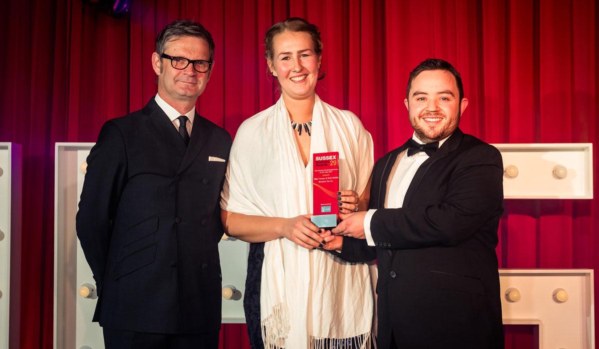 CEO Chris O'Hare presenting the Hare Digital Sponsored Award