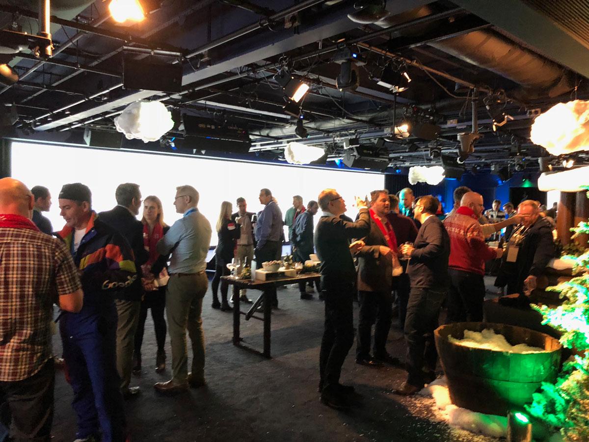 buffet google christmas party