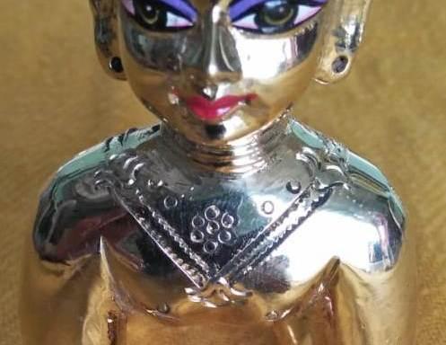 Radharani / Kishori Ji Deity / Statue / Murty / Vigraha made of Asthadhatu 5 Inches