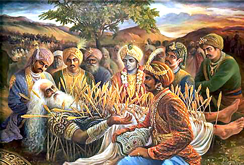 Image result for bhishma on bed of arrows