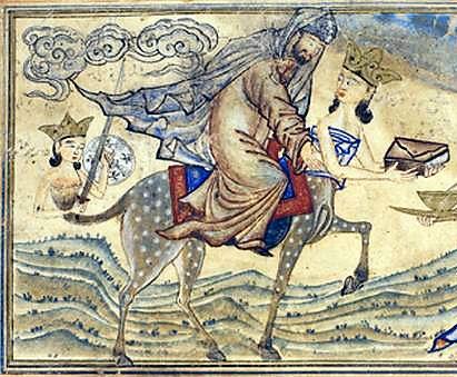 Muhammad on Al Buraq