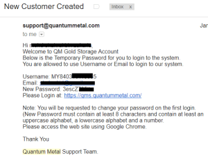 quantum metal registration email confirmation