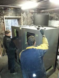 main body of the biomass boiler