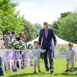relaxed wedding outdoors