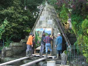 setting up the well dressing