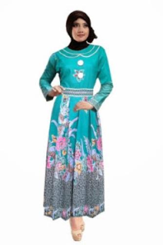 Baju gamis modern motif batik