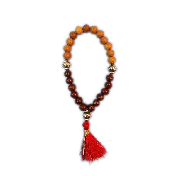 Red Sandal Wood & White Sandal Wood Bracelet