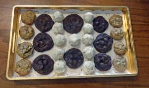 Homemade Chocolate Chip Coconut Pecan Cookies; Lemon Snowdrop Cookies, and Chewy Chocolate Chocolate Chip Cookies