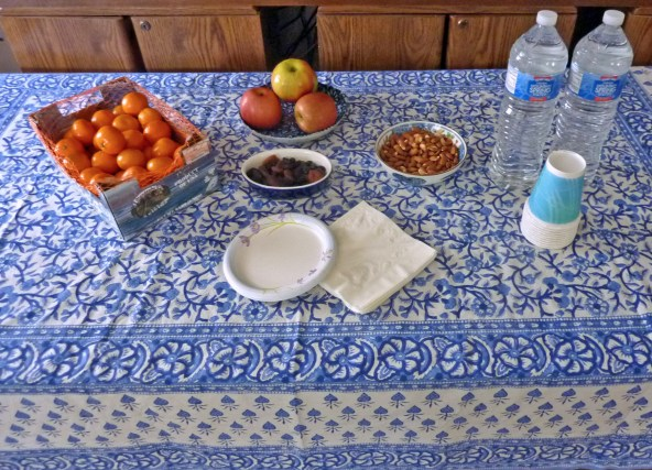Tangerines, Apples, and Dried Apricots Raw Almonds