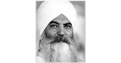 "Today: ""The human is the light: mental, spiritual, self, and the teacher is the embodiment of it."" – Yogi Bhajan"