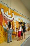 Hawaiʻi Kākou Mural in progress