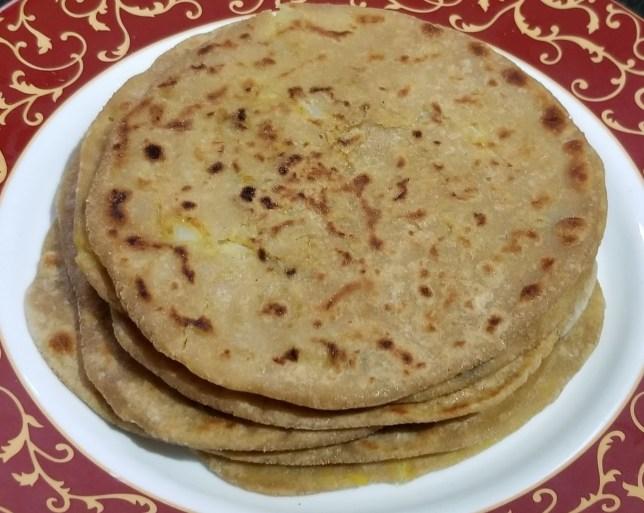 Yummy Potato Paratha are ready to serve hot.